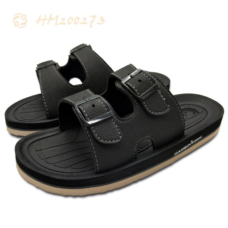 Men EVA Slides Sandals,Two Strap Buckle Sandals for Male