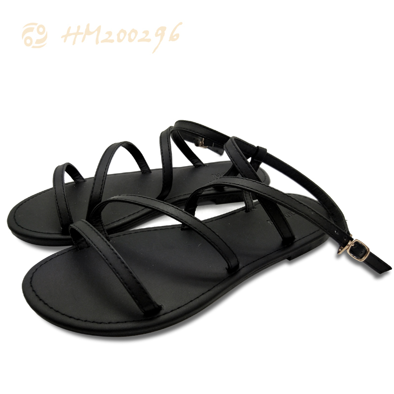 Ladies Flat Sandals,Sexy Strap Leather Sandals