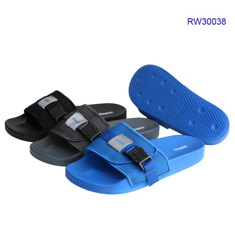 Custom High Quality Men Slides Sandals,Buckle Slipper Shoes