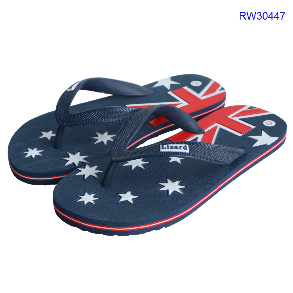 Customized Men Flag Flip Flops, Beach Slippers Shoes