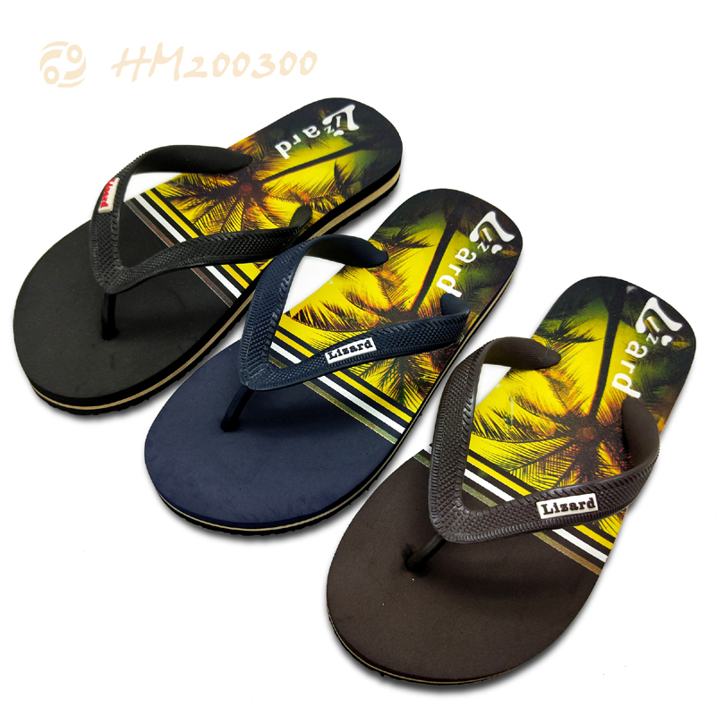 Custom Made Men Printed  Flip Flop Sandals At Wholesale Price