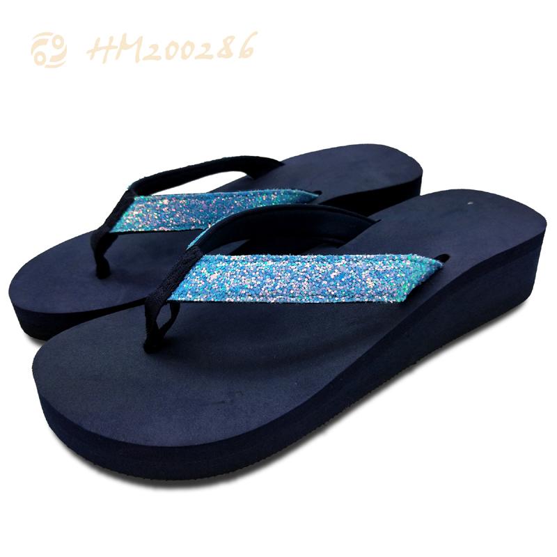 Custom Wedge Slippers Womens Heel Ladies Sandals Shoes Wholesale