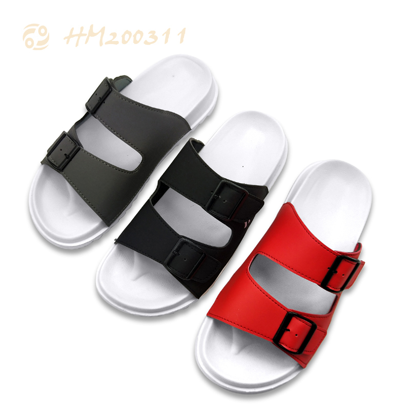 Customized Sandals for Men, Buckle Two Strap Slippers