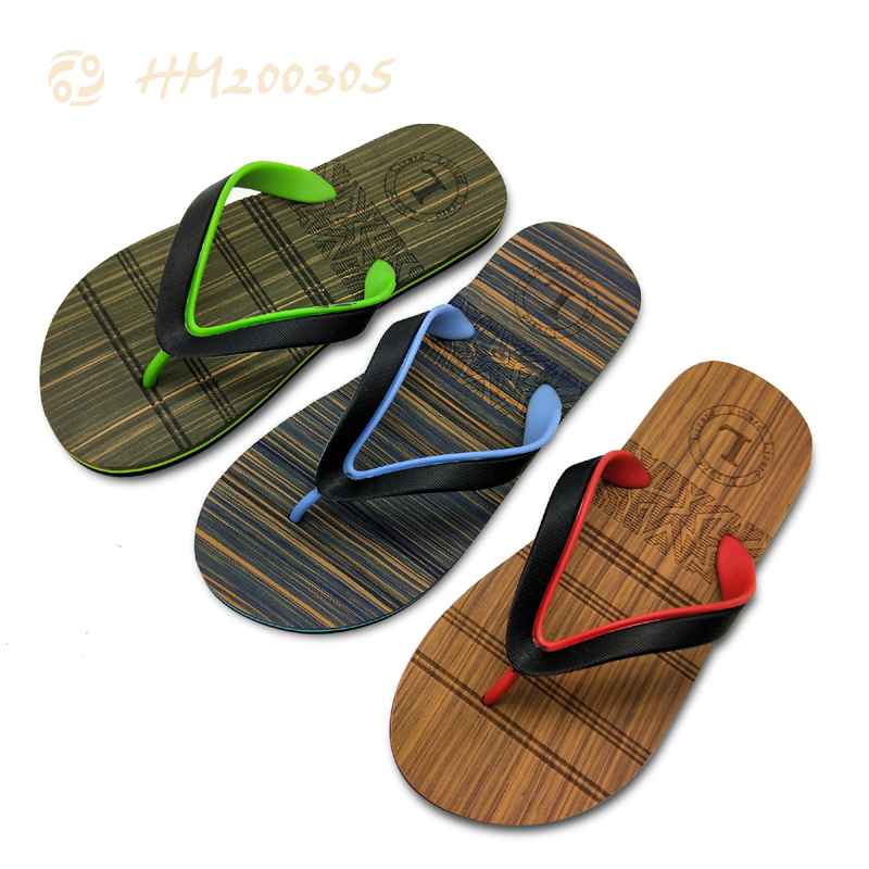Factory Men Flip Flops,Double Color Strap Sandals