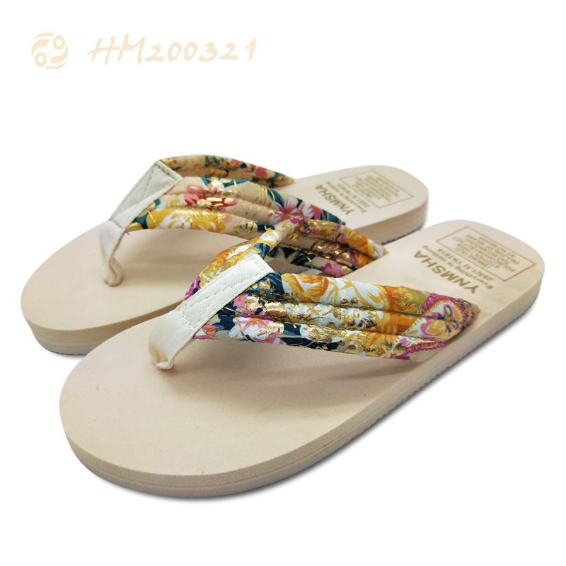 Customized Flip Flops for Women Golden Sandals