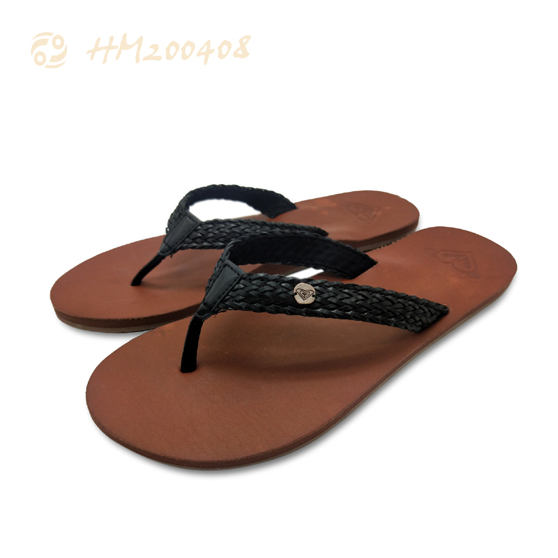 Casual Women Beach Sandals Brown Thong Flip Flops for Ladies