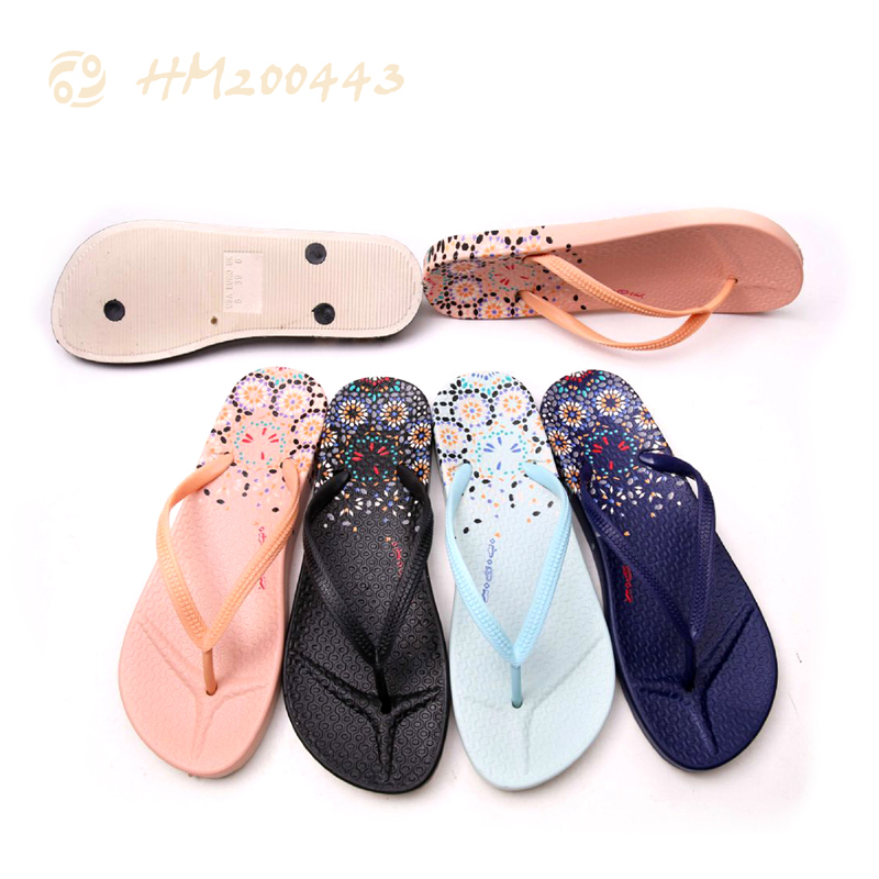 Women PVC Flip Flops Printing Fashion Ladies Slipper Sandals