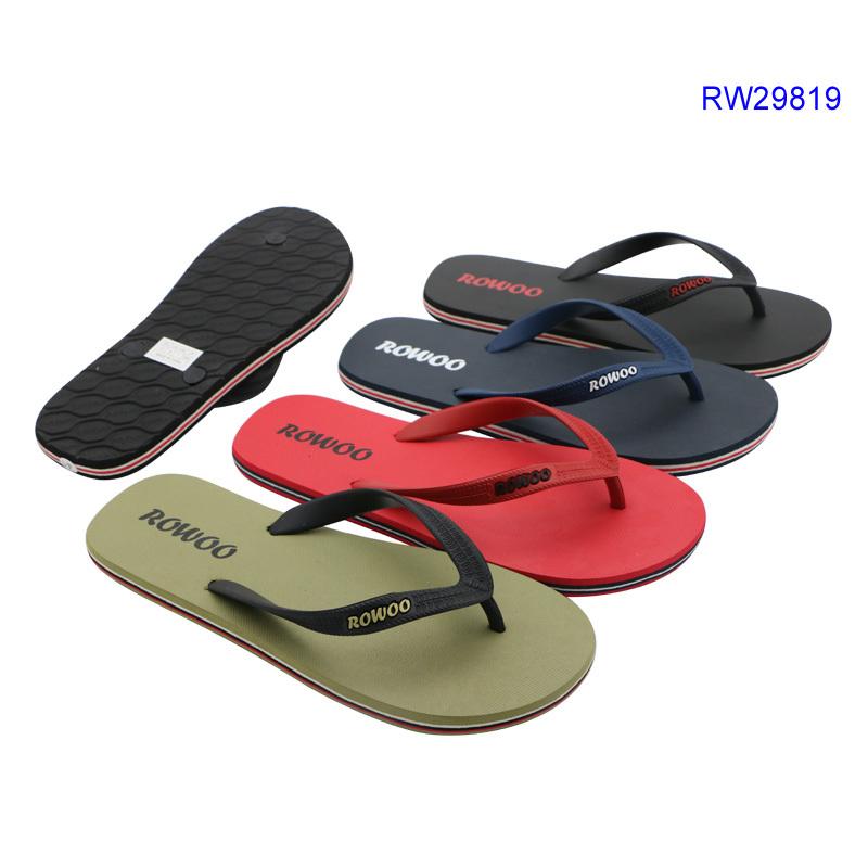 Casual Men Beach Rubber Sandals Customized Flip Flop Slipper Shoes