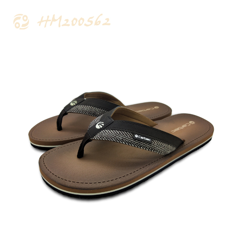 High Quality Men Brown Slippers Sandals Outdoor Beach Thong Flip Flops
