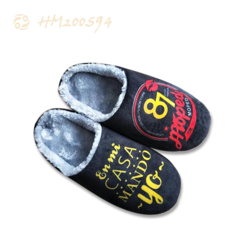New Slipper Sandals for Men Women Cartoon Soft Plush Cotton Shoes