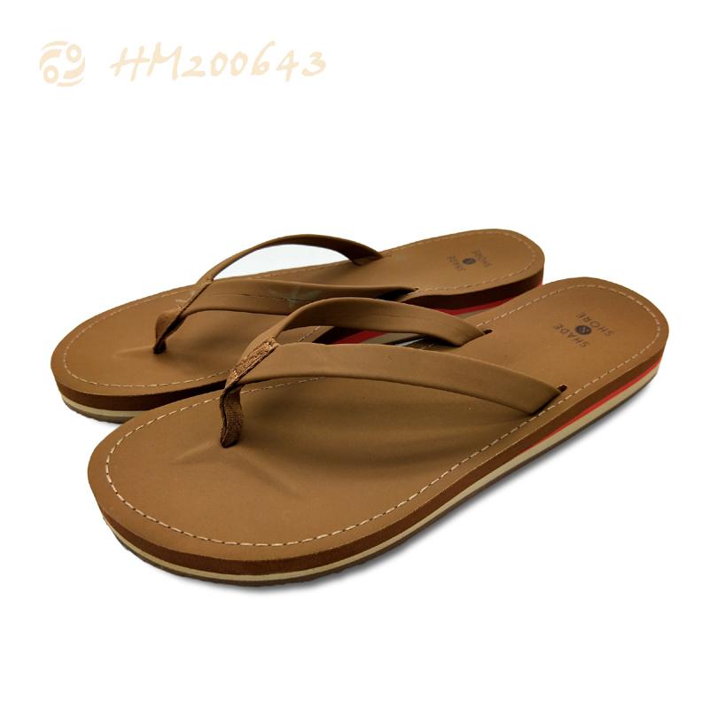 Fashion Men TPR Slipper Shoes Solid Beach Anti-slip High Quality Flip Flops