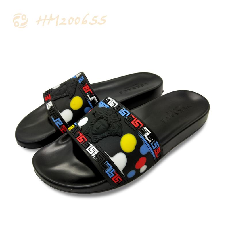 3D Embossed Slide Slippers for Men Casual Anti-slip Sandals