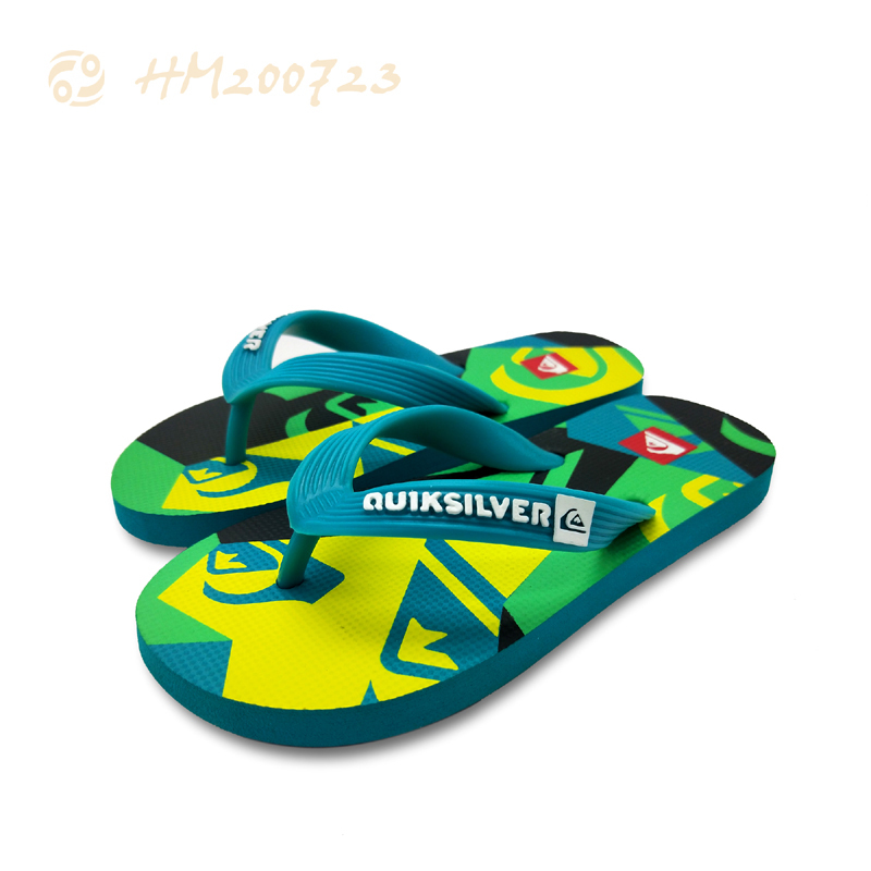 Customized Men Flip Flops Printing Beach Sandals for Summer