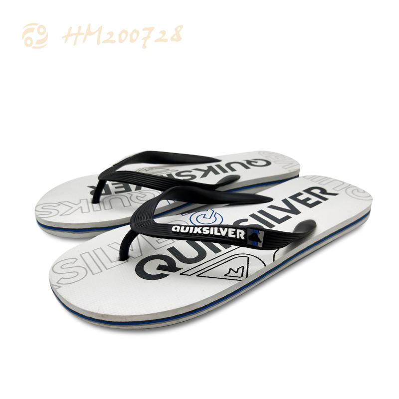 Men Striped Flip Flops Customized Logo Slipper Sandals