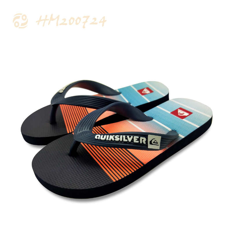 Customized logo Men Flip Flops Printing  Beach Summer Slipper