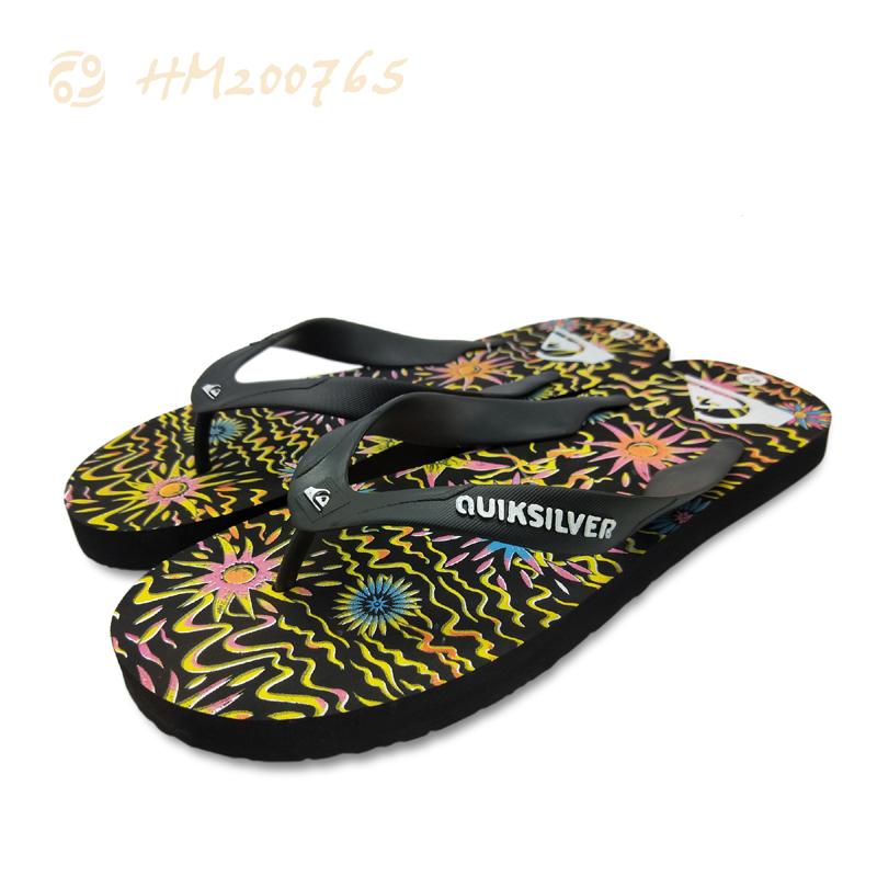 High Quality Men Black Printing Flip Flpops Beach Summer Slipper Sandals