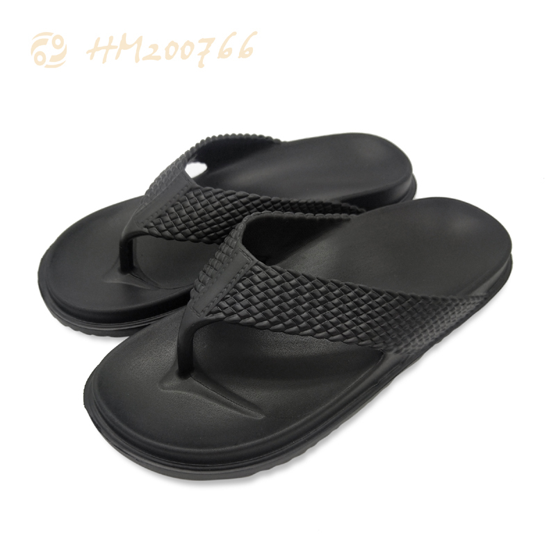2021 New Fashion EVA Flip Flops Men Lightweight Slippers Summer Black Flat Sandals