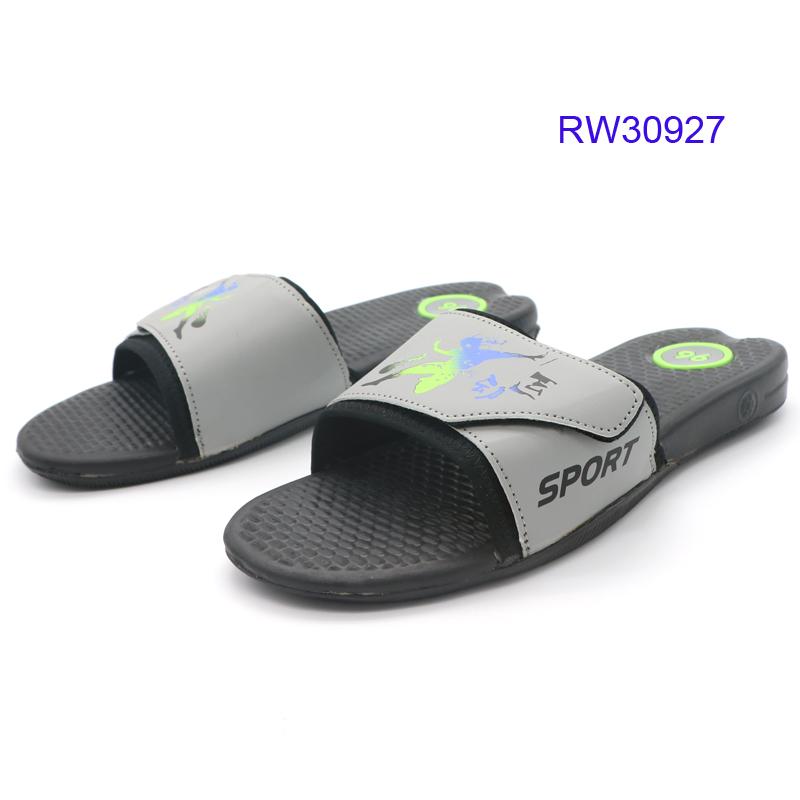 Hot Sale Black Men Outdoor Casual Slippers Memory Foam Slides Sandals