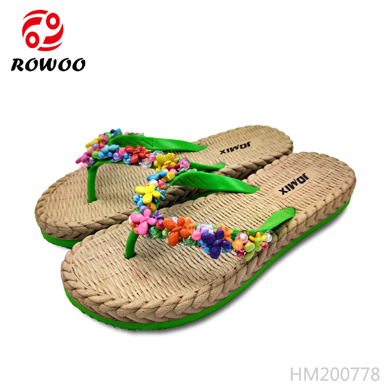 Wholesale women diamond fashion Slipper With Good Price-Rowoo