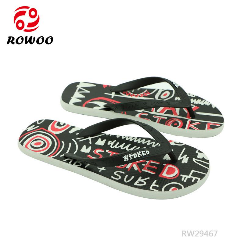 Hot Style Women Printing Flip Flops Cartoon Durable Slipper Sandals Girls Outdoor Shoes