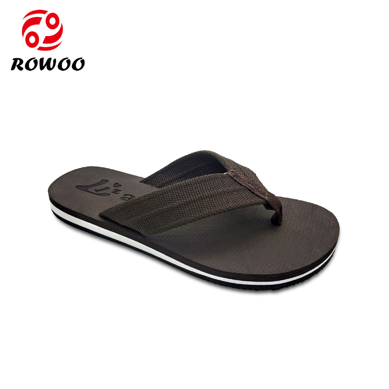 Custom China Customized Logo Oxford upper EVA sole beach on sale flip flop slipper for men Factory From China