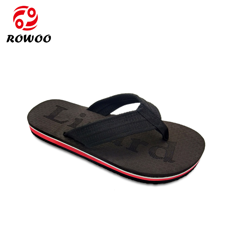 China Customized Logo Oxford upper EVA sole on sale flip flop slipper for men High Quality Supplier In China