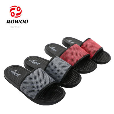 New Design Men Slides Casual Shoes Solid Beach Customized Slippers Women Flat Sandals