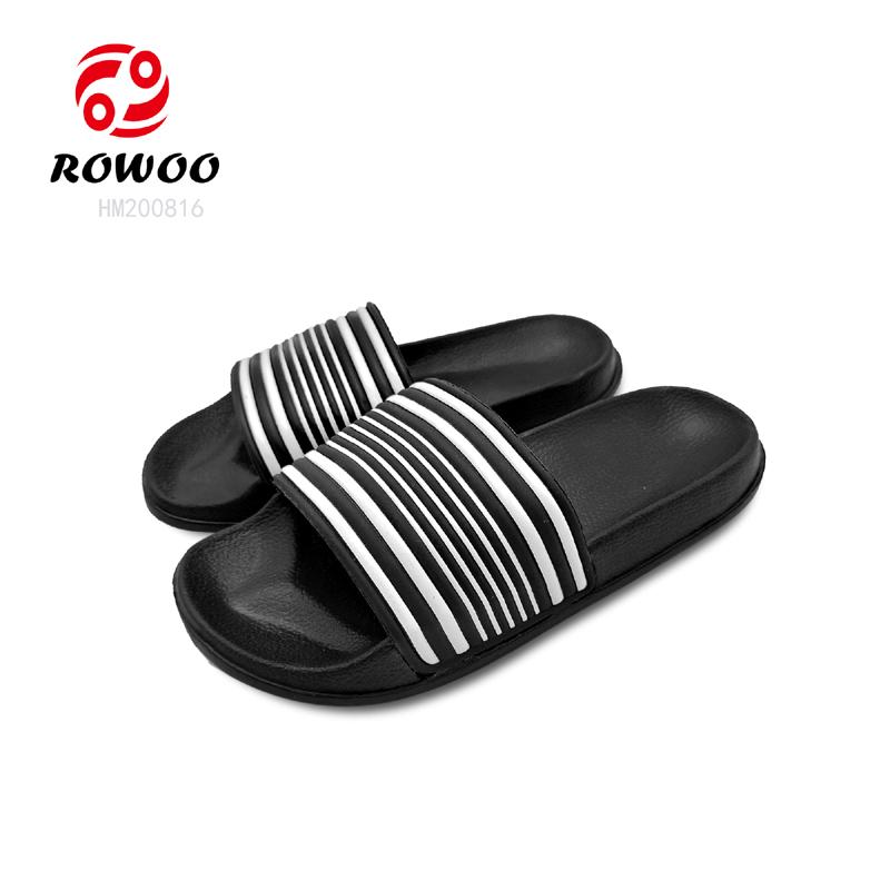 Fashion Striped Men Slides Sandals Wholesale Cheap Slippers Men Summer Beach Sandals