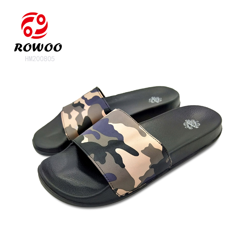 Fashion Camouflage Customized Men Slides Slippers Light Beach Summer Outdooe Sandals