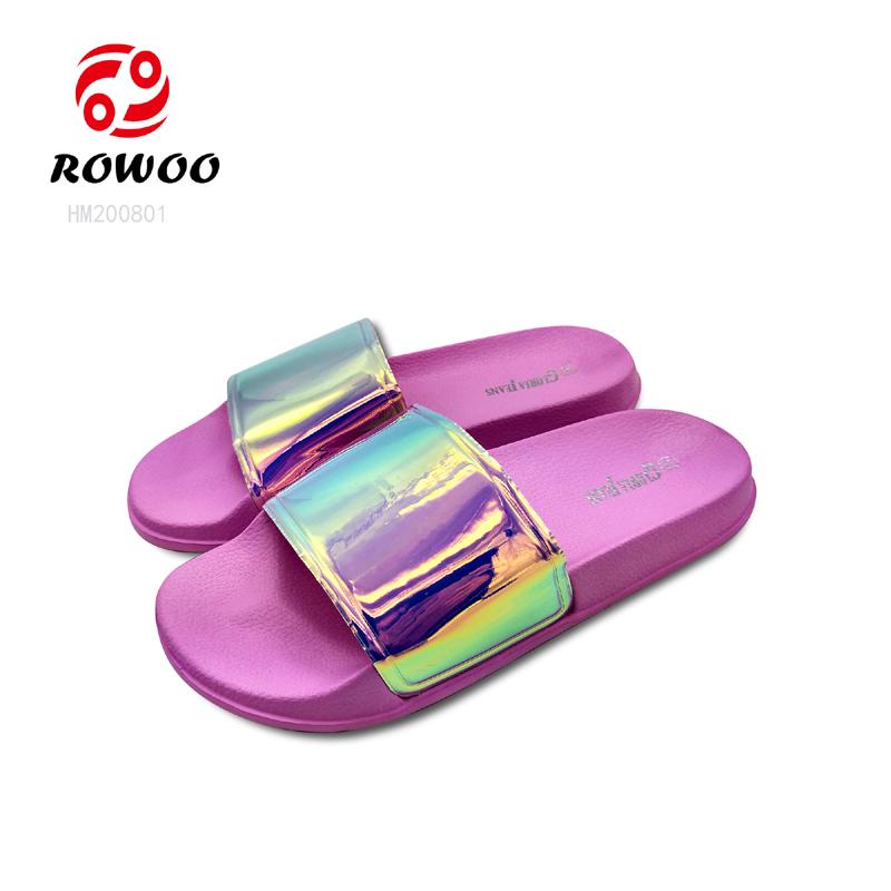 Wholesale PVC upper open toe Flip flop fashion Luxury indoor sandal anti-slip slide comfortable slipper for women