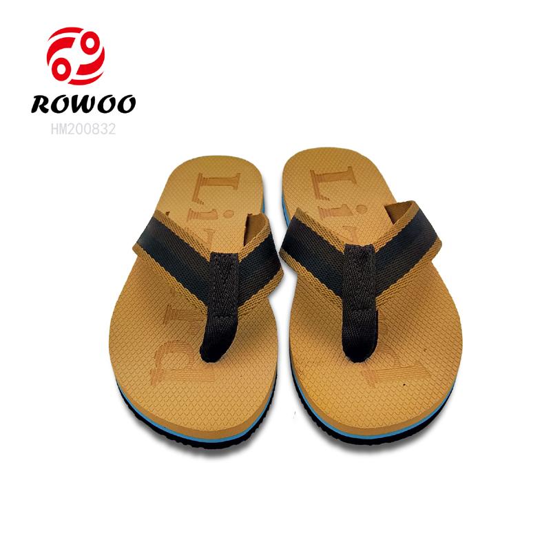 Rowoo mens white flip flops supplier-2