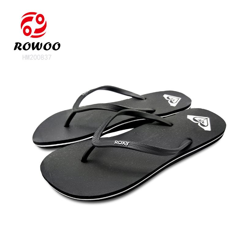 Customized logo Men Flip Flops PVC strap EVA sole light Beach Summer Slipper