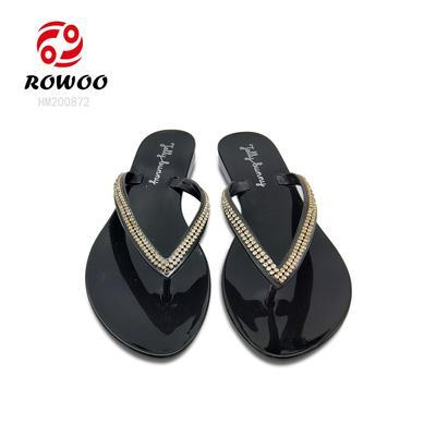 Hotsale women Flip Flop PVC diamond Fashion slipper comfortable anti slippery sandal