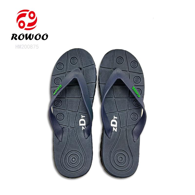 Rowoo mens leather flip flops best price-2