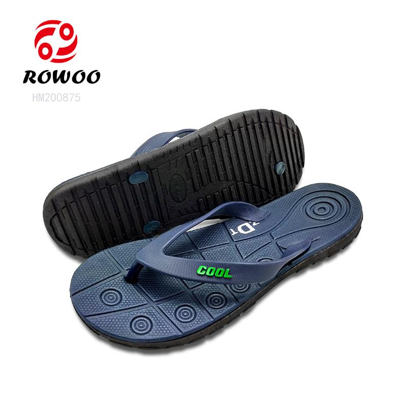 Rowoo mens leather flip flops best price-1