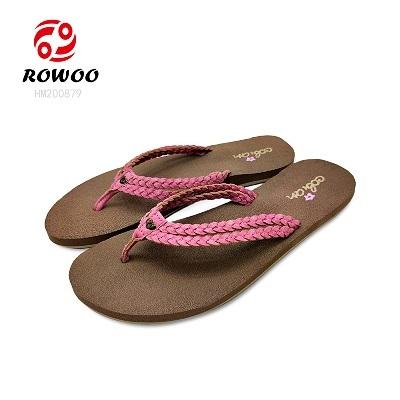 Wholesale Fashion Women Fabric wedge Slippers comfortable Flip Flops