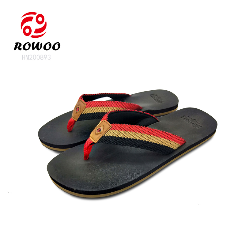 New Design Men Weaven Flip Flops Sandals Cheap Fashion Slipper