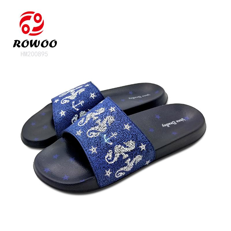 Hotsale Men Slide PU upper indoor slipper comfortable anti slippery sandal