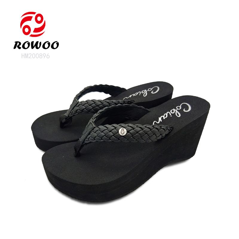wholesale fashion ladie sandal wedge high heel