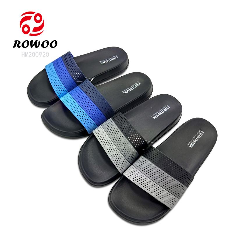Hotsale Men Slide PUupper indoor slipper comfortable anti slippery sandal