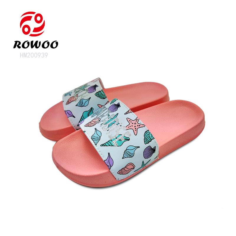 China supplier wholesale PU upper light colorful slide sandal for Kid