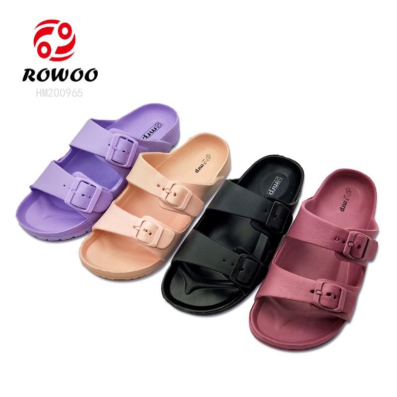 Latest design EVA sole slide sandal light comfortable indoor slipper
