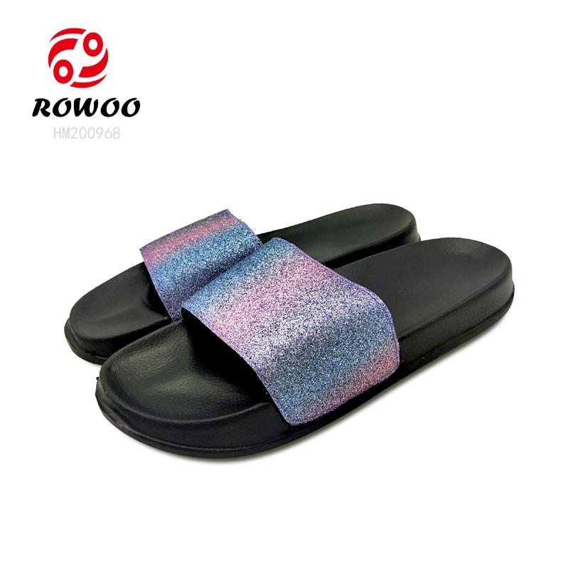New design PU upper slide sandal comfy light anti-slip cheap indoor slipper
