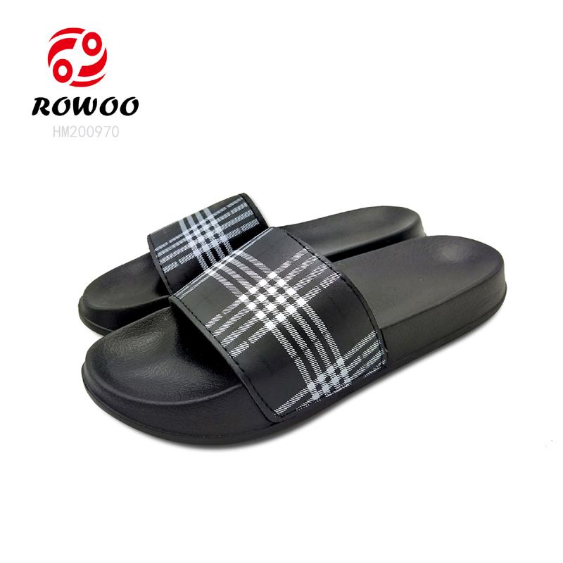 New design PU upper slide sandal comfy anti-slip fashion indoor outdoor slipper