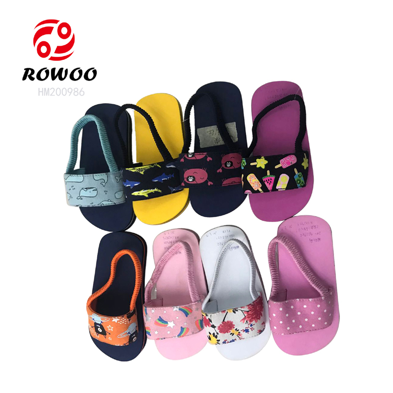 Customized latest design EVA sole light sandal cheap children anti slip kids slipper
