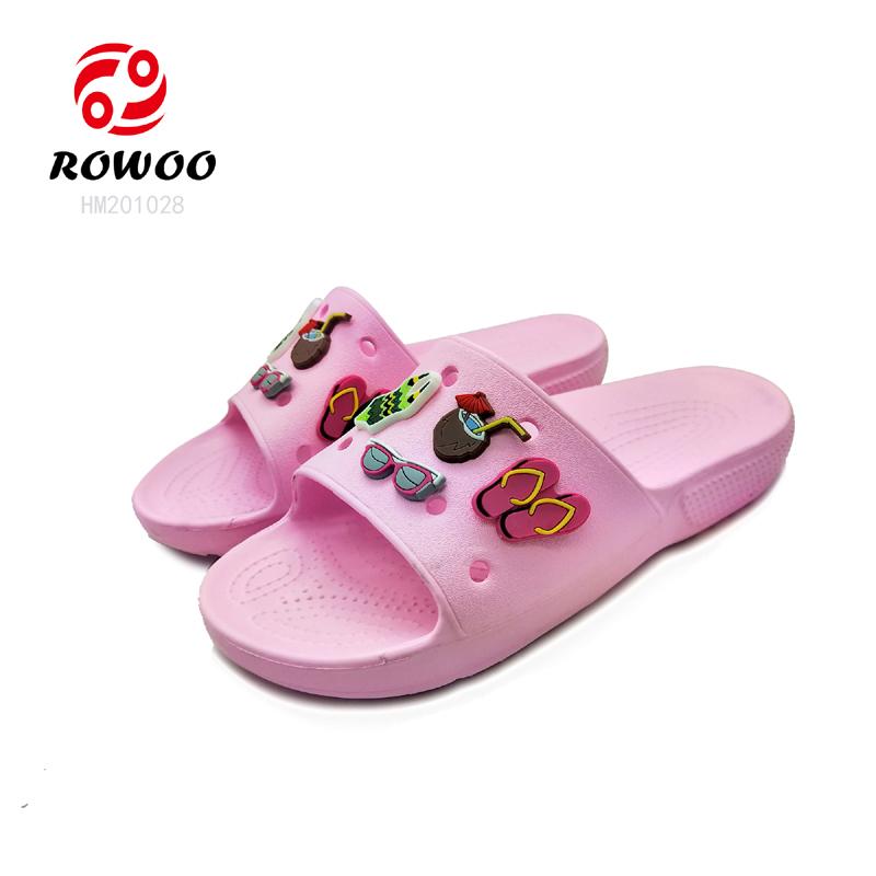 EVA durable sole cheap light  luxury cute slide sandal for kids