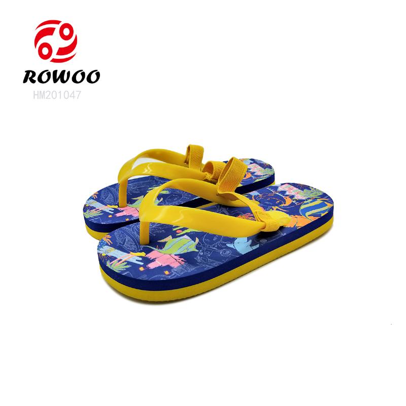 EVA  light children sandal anti slip flipflop cheap colorful print cute baby kids slippers