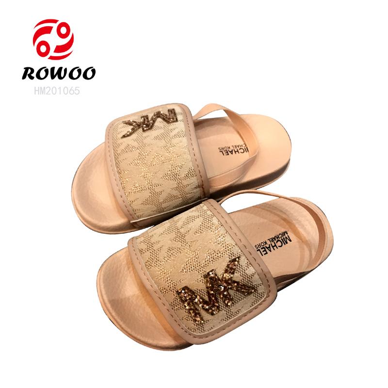 Customized EVA durable sole cheap light sandal comfortable baby girls slippers
