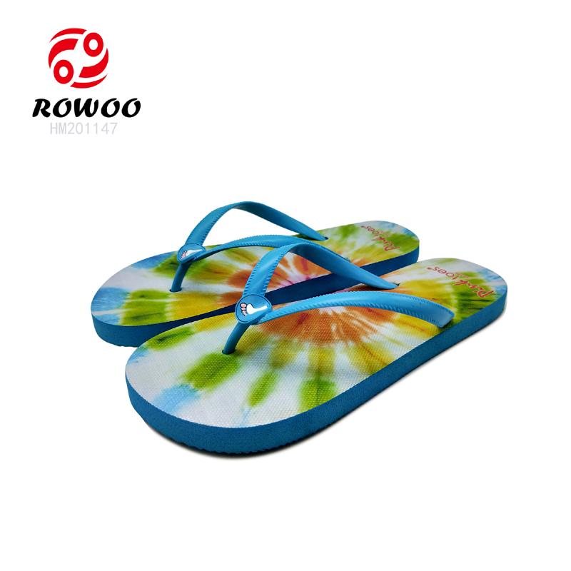 Customized PVC strap EVA sole printing luxury slippers comfortable Fashion flipflop women Slipper