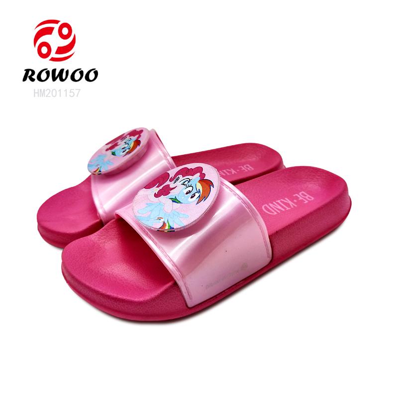 Customized Logo PU upper durable sole fashion cute comforty sandal kids Slipper